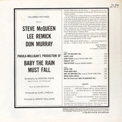 Baby the Rain Must Fall Soundtrack (Elmer Bernstein) - CD Back cover