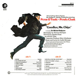 Goodbye, Mr. Chips Soundtrack (Leslie Bricusse, Petula Clark, Peter O'Toole, John Williams) - CD Back cover