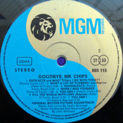 Goodbye, Mr. Chips Soundtrack (Leslie Bricusse, Petula Clark, Peter O'Toole, John Williams) - cd-inlay
