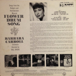 Barbara Carroll ‎– Flower Drum Song Soundtrack (Oscar Hammerstein, Richard Rodgers) - CD Trasero