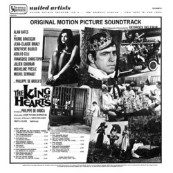 King of Hearts Soundtrack (Georges Delerue) - CD Back cover