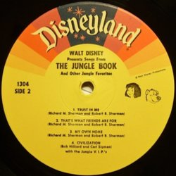 The Jungle Book Soundtrack (Various Artists, George Bruns) - cd-inlay
