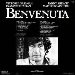 Benvenuta Soundtrack (Frédéric Devreese) - CD Back cover