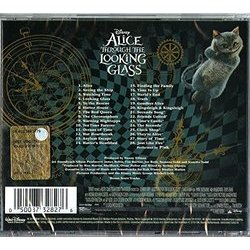 Alice Through the Looking Glass Soundtrack (Danny Elfman) - CD Back cover