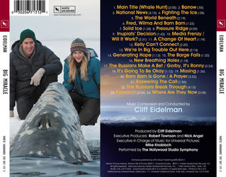 Big Miracle Soundtrack (Cliff Eidelman) - CD Trasero