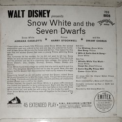 Snow White and the Seven Dwarfs Bande Originale (Frank Churchill, Leigh Harline, Paul J. Smith) - CD Arrière