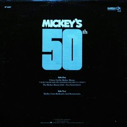 Mickey's 50th Bande Originale (Various Artists) - CD Arrière