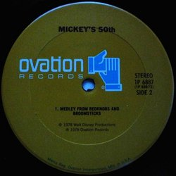 Mickey's 50th Μουσική υπόκρουση (Various Artists) - cd-inlay
