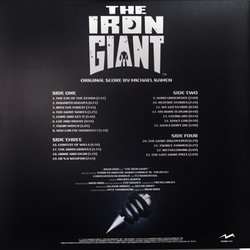 The Iron Giant Soundtrack (Michael Kamen) - CD-Rückdeckel