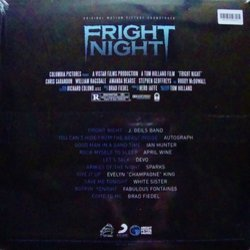 Fright Night Soundtrack (Various Artists, Brad Fiedel) - CD Back cover