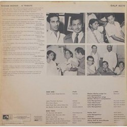 Madan Mohan ...A Tribute Soundtrack (Various Artists, Madan Mohan) - CD Back cover