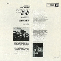 America America Soundtrack (Manos Hadjidakis) - CD Back cover