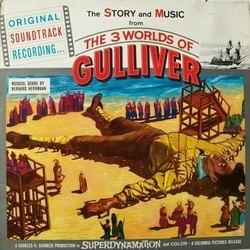 The 3 Worlds of Gulliver Soundtrack (Bernard Herrmann) - Car�tula