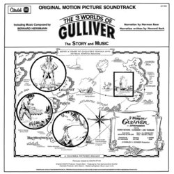The 3 Worlds of Gulliver Soundtrack (Bernard Herrmann) - CD Trasero