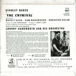 The Criminal Bande Originale (John Dankworth) - CD Arrière