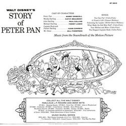 Walt Disney's Story And Songs From Peter Pan Soundtrack (Oliver Wallace) - CD Back cover