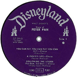 Walt Disney's Story And Songs From Peter Pan Soundtrack (Oliver Wallace) - cd-inlay