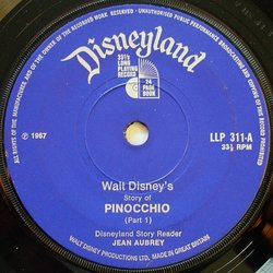 Pinocchio Soundtrack (Leigh Harline, Paul J. Smith) - cd-inlay