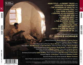 Black Gold Soundtrack (James Horner) - CD Trasero