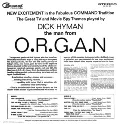 The Man From O.R.G.A.N. Colonna sonora (Various Artists, Dick Hyman) - Copertina posteriore CD
