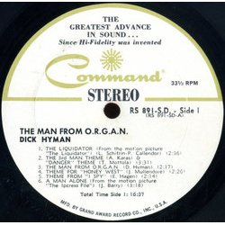 The Man From O.R.G.A.N. Colonna sonora (Various Artists, Dick Hyman) - cd-inlay