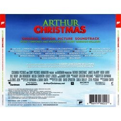Arthur Christmas Colonna sonora (Harry Gregson-Williams) - Copertina posteriore CD