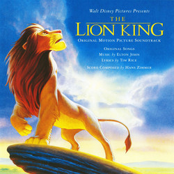 The Lion King Colonna sonora (Elton John, Hans Zimmer) - Copertina del CD
