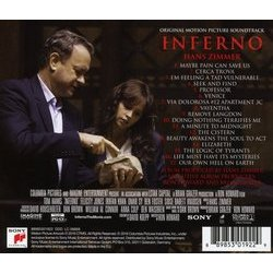 Inferno Soundtrack (Hans Zimmer) - CD Achterzijde