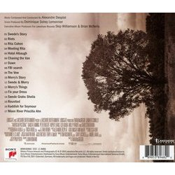American Pastoral Soundtrack (Alexandre Desplat) - CD Back cover