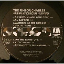 The Untouchables Bande Originale (Ennio Morricone) - cd-inlay