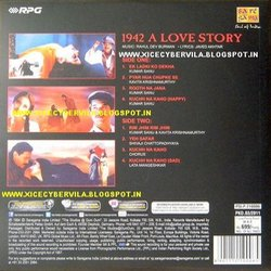 1942: A Love Story Bande Originale (Javed Akhtar, Various Artists, Rahul Dev Burman) - CD Arrière