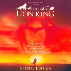 The Lion King Soundtrack (Elton John, Hans Zimmer) - Carátula