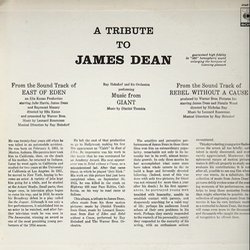 A Tribute to James Dean Soundtrack (Ray Heindorf Orchestra, Leonard Rosenman, Dimitri Tiomkin) - CD Back cover
