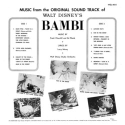 Bambi Soundtrack (Various Artists, Frank Churchill, Edward H. Plumb) - CD Trasero