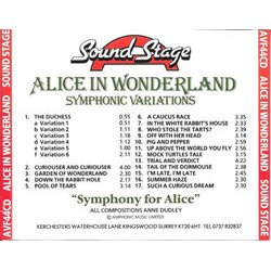 Alice in Wonderland Colonna sonora (Anne Dudley) - Copertina posteriore CD