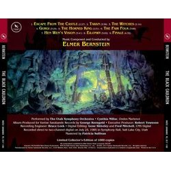 The Black Cauldron Soundtrack (Elmer Bernstein) - CD Trasero