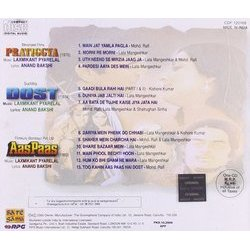 Pratigya / Dost / Aas Paas Soundtrack (Various Artists, Anand Bakshi, Laxmikant Pyarelal) - CD Back cover