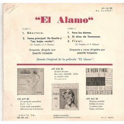 El Alamo Soundtrack (Dimitri Tiomkin) - CD Back cover