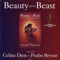 Beauty and the Beast Soundtrack (Peabo Bryson, Céline Dion, Alan Menken) - CD cover