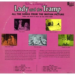 Lady and the Tramp Soundtrack (Various Artists, Oliver Wallace) - CD Trasero