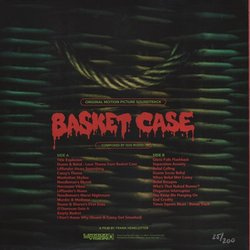 Basket Case Soundtrack (Gus Russo) - CD Back cover