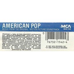 American Pop Soundtrack (Various Artists, Lee Holdridge) - CD Trasero