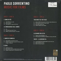 Paolo Sorrentino: Music for Films Soundtrack (Paolo Sorrentino) - CD Achterzijde