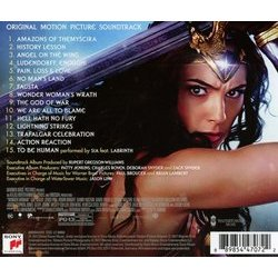 Wonder Woman Soundtrack (Rupert Gregson-Williams) - CD Achterzijde