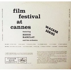 Film Festival At Cannes Soundtrack (Various Artists, Eddie Barclay) - CD Back cover