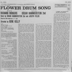 Flower Drum Song Soundtrack (Oscar Hammerstein, Gene Kelly , Richard Rodgers) - CD Achterzijde