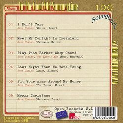 In the Good Old Summertime Soundtrack (Judy Garland, George Stoll, Robert Van Eps) - CD Achterzijde