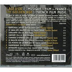 L'Âge d´or de la musique de film en France Soundtrack (Various Artists) - CD Achterzijde
