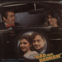 Bad Aur Badnam Soundtrack (Various Artists, Anand Bakshi, Laxmikant Pyarelal) - CD cover