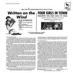 Written in the Wind / Four Girls in Town Soundtrack (Alex North, Victor Young) - CD Trasero